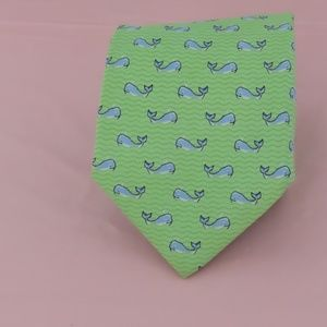 Tommy Hilfiger Green Skinny Tie With Whales